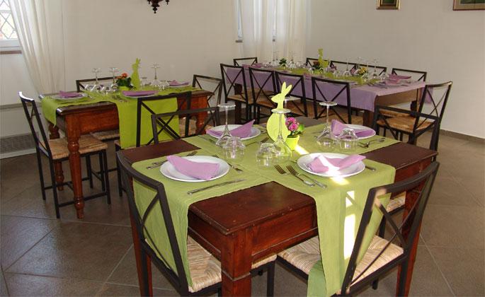 preparazione tavoli